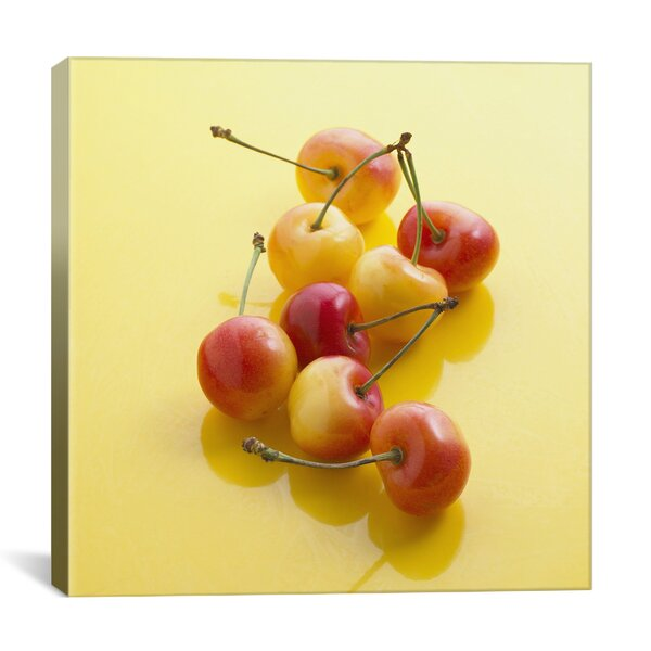 Food and Cuisine Rainier Cherries Photographic Print on Canvas by iCanvas