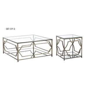 Cormac 2 Piece Coffee Table Set by Mercer41