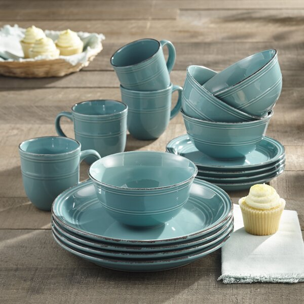 Annabelle 16 Piece Dinnerware Set Service For 4 By Andover Mills.