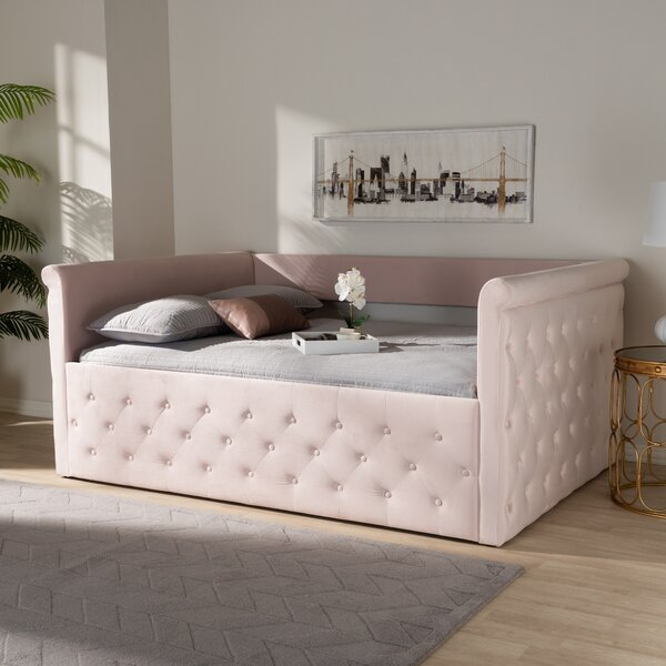 Cornell Modern And Contemporary Velvet Upholstered Daybed By Rosdorf Park