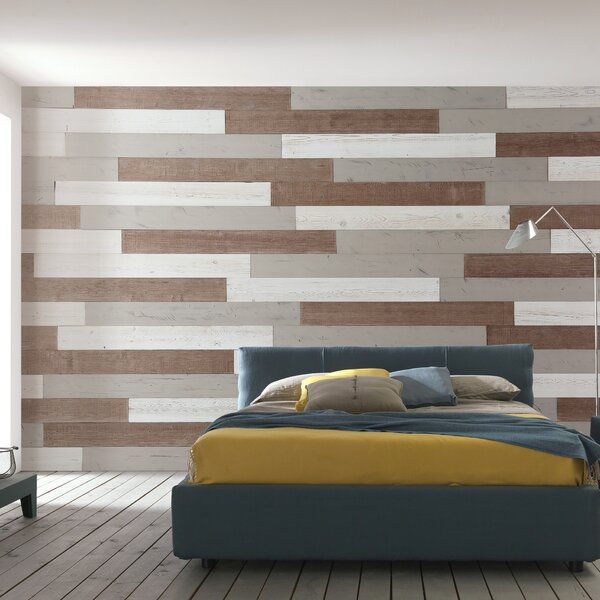5 Solid Wood Wall Paneling in White/Sweetened Milk/Warm Sand by WoodyWalls