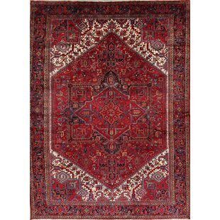 Compare prices One-of-a-Kind Stier Geometric Heriz Persian Hand-Knotted 9' 6'' x 12' 9'' Wool Red/Black/Biege Area Rug By Isabelline