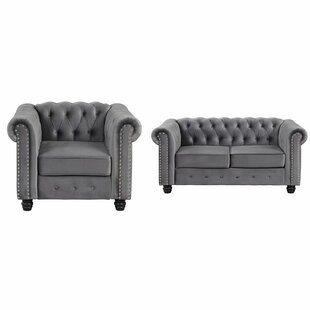 Gilley 2 Piece Velvet Living Room Set by Canora Grey