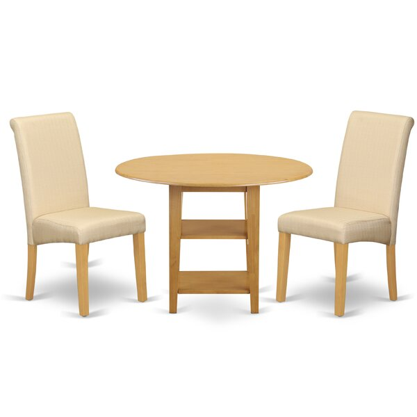 Jaelyn Small Table 3 Piece Drop Leaf Breakfast Nook Dining Set by Winston Porter
