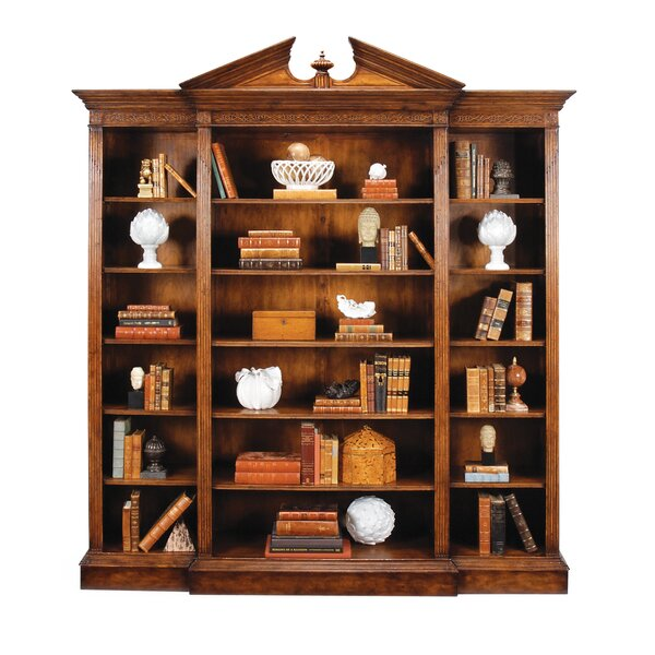 Windsor Triple Breakfront Library Bookcase by Jonathan Charles Fine Furniture Jonathan Charles Fine Furniture