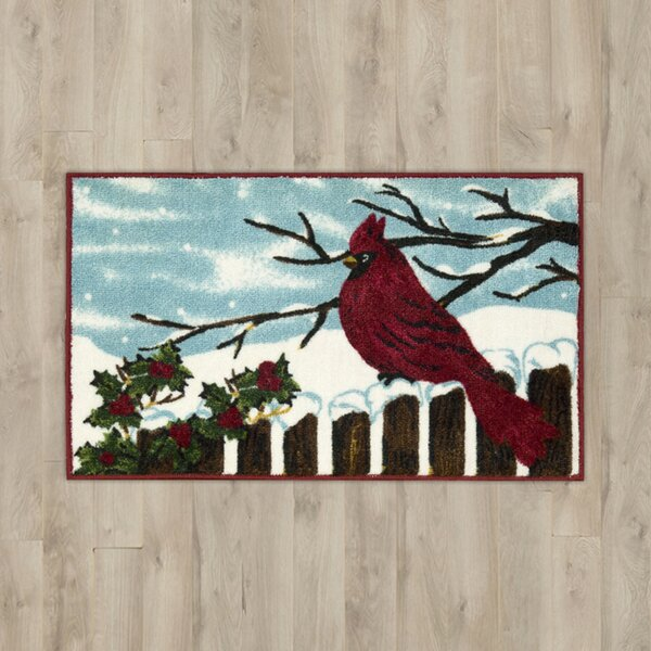 Cardinal & Holly Blue Area Rug by The Holiday Aisle