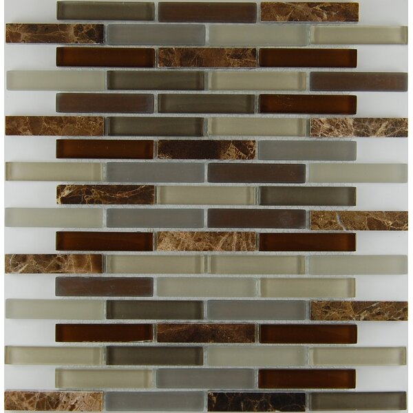 Bar Mix Castano 0.63 x 3 Natural Stone Mosaic Tile in Chocolate by Travis Tile Sales