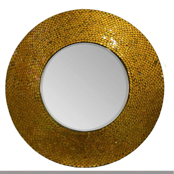 Darrie Round Mosaic Accent Mirror by World Menagerie