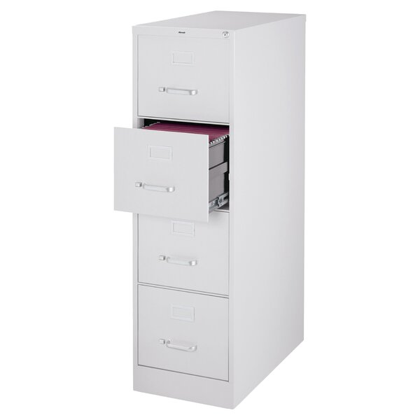 Jolene 4 Drawer Commercial Letter Size Vertical Filing Cabinet by Symple Stuff