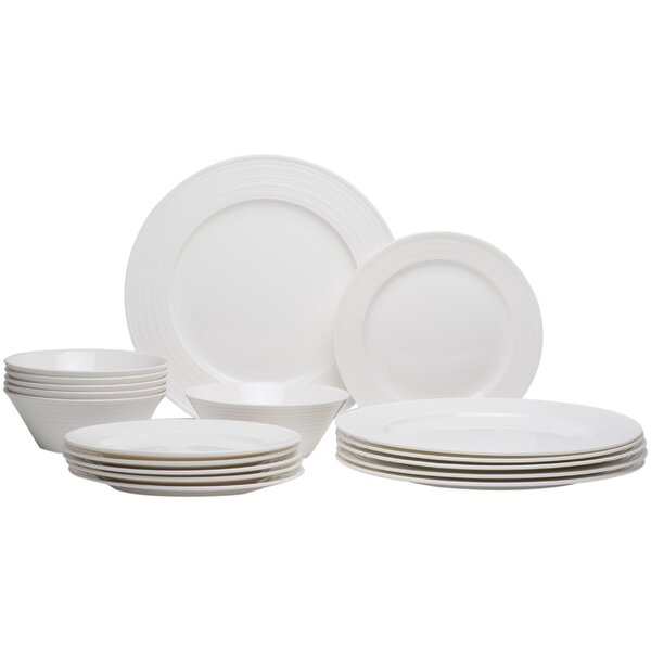 Vanilla Swirl 18 Piece Dinnerware Set by Red Vanilla