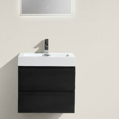 Leni 24 Wall Mounted Single Bathroom Vanity Set by Orren Ellis