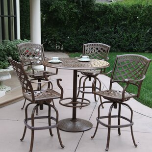 Thompson 5 Piece Bar Height Dining Set with Cushions ByAlcott Hill
