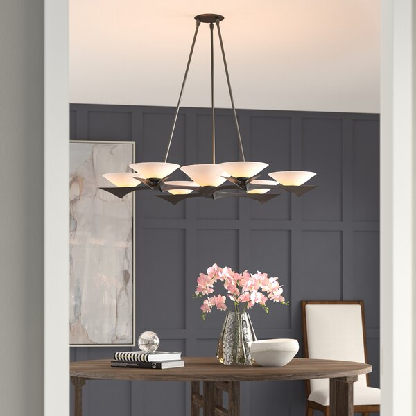 Moreau 7 - Light Shaded Classic / Traditional Chandelier By Hubbardton Forge
