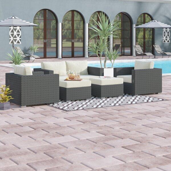 Tripp 5 Piece Sunbrella Sofa Seating Group with Cushions by Brayden Studio