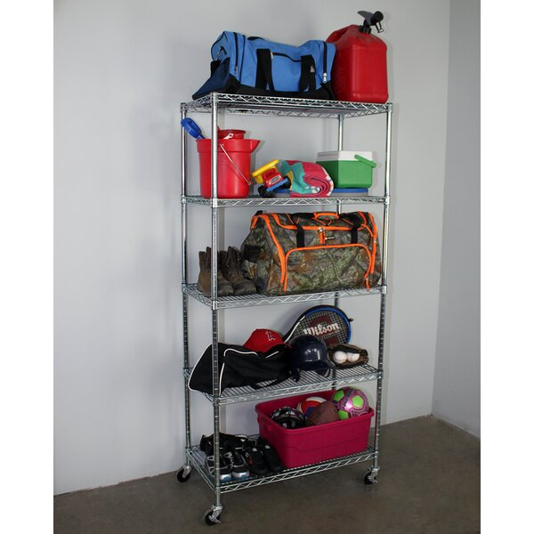5-Tier Wire Shelving Unit with Wheels by SafeRacks
