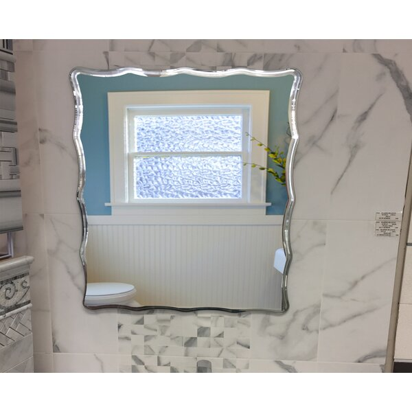 Bem Glam Beveled Frameless Bathroom Mirror
