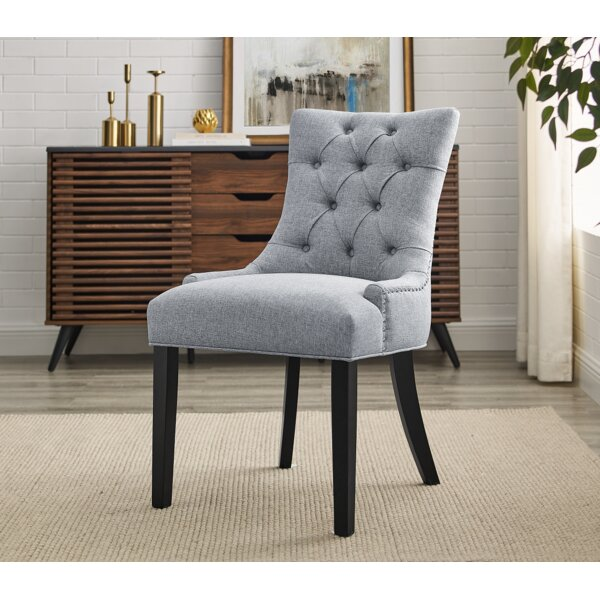 Armutalan Tufted Linen Upholstered Parsons Chair by Red Barrel Studio Red Barrel Studio®