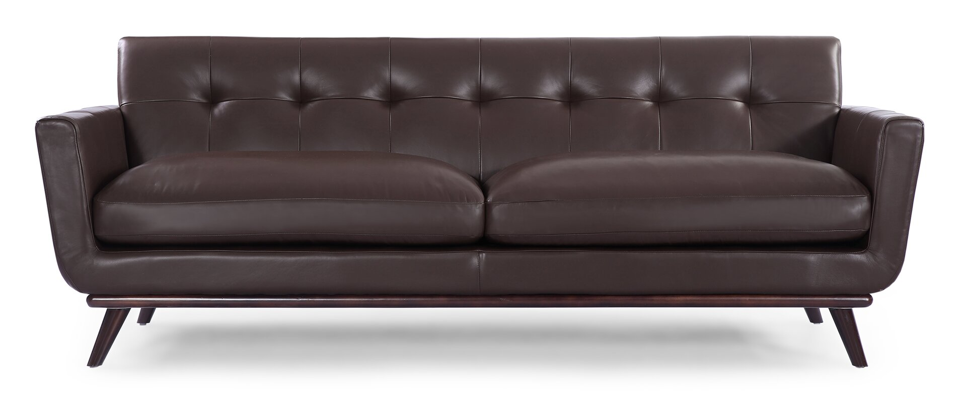 Corrigan Studio Luther Mid Century Modern Vintage Leather Sofa