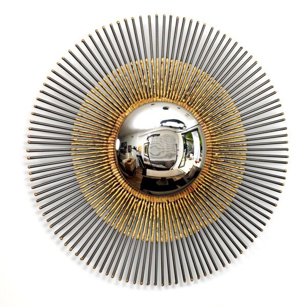 Round Aluminum Wall Mirror by Bloomsbury Market