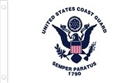 American Coast Guard Nylon 4 x 6 ft. Flag Set by U.S. Flag Store
