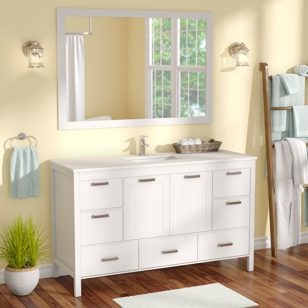 Andre 60 Single Bathroom Vanity Set with Mirror by Longshore Tides