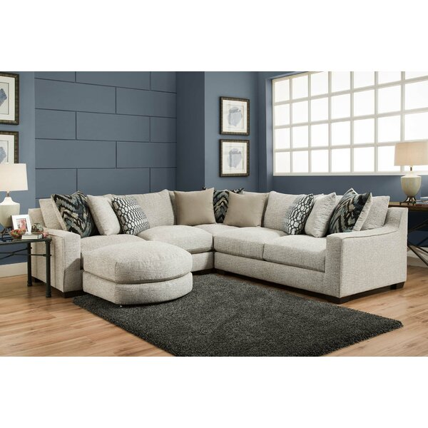 Wilma Sectional with Sectional Ottoman by Darby Home Co