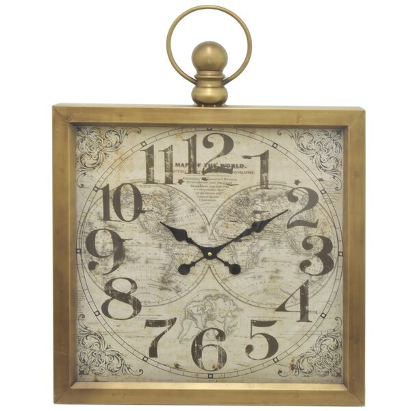 Paxton Metal Frame Wall Clock by Charlton Home
