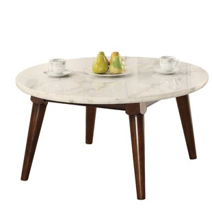 Best Choices Calderdale Marble Top Wood Base Coffee Table By Ivy Bronx