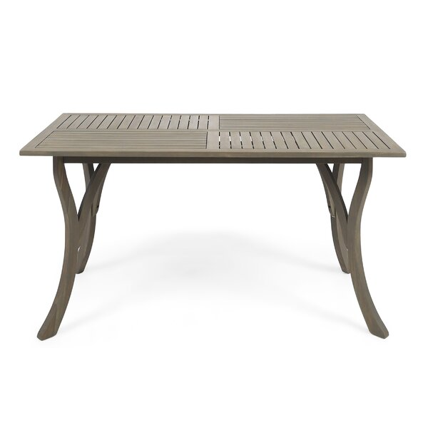 Balceta Wooden Dining Table by Breakwater Bay