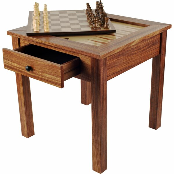 Chess & Games Wood 3 in 1 Multi Game Table by Trademark Games