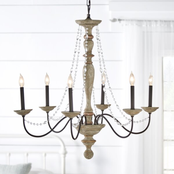 Brennon 6-Light Candle Style Classic / Traditional Chandelier by Three Posts Three Posts