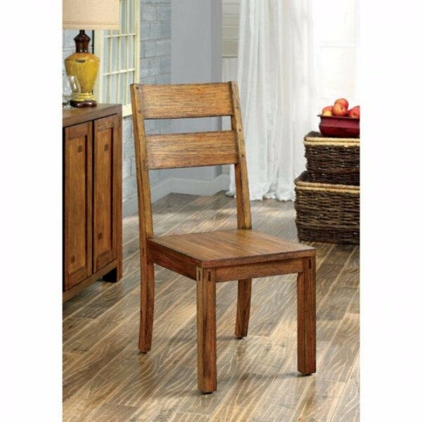 Ramsay Rustic Solid Wood Dining Chair (Set of 2) by Loon Peak