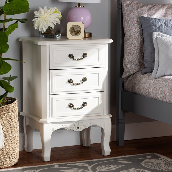 Lacroix 3 Drawer Nightstand By Alcott Hill