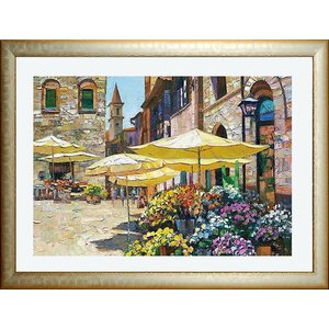 'Siena Flower Market' Framed Print by Fleur De Lis Living