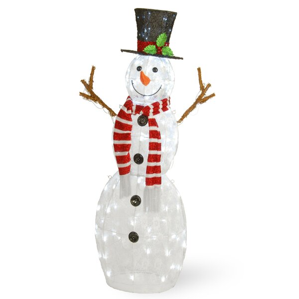 Pre-Lit Snowman Lighted Display by The Holiday Aisle