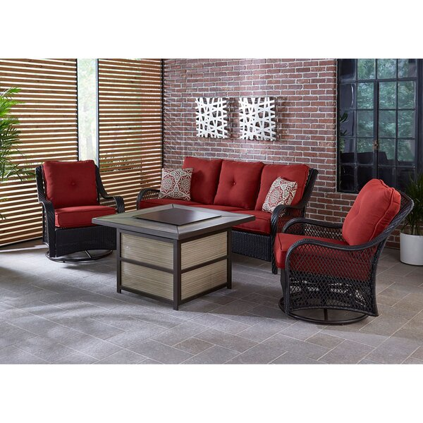 Luisa Outdoor 4 Piece Sofa Seating Group with Cushions
