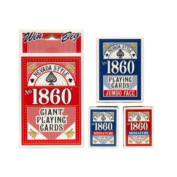 No.1860 Giant Playing Card (Set of 6) by Nevada Style