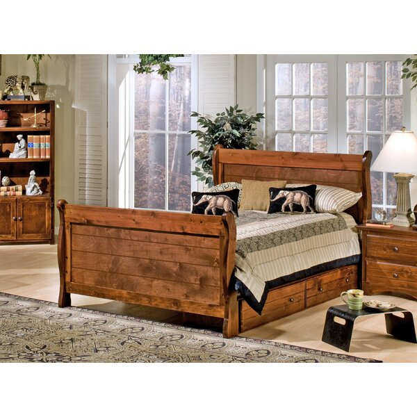 Rael Full Sleigh Bed with Drawers by Harriet Bee