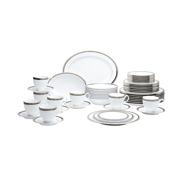 Austin Platinum 50 Piece Dinnerware Set, Service for 8 by Noritake