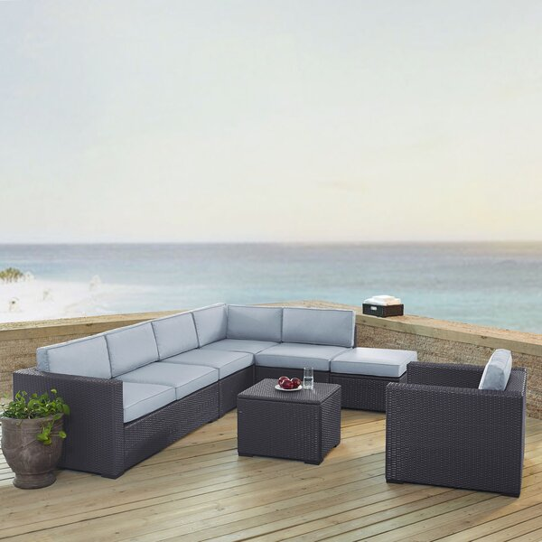 Seaton 6 Piece Sectional Seating Group with Cushions by Sol 72 Outdoor