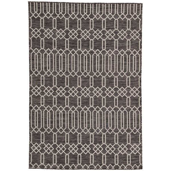 Wall Street Pewter Indoor/Outdoor Area Rug by George Oliver