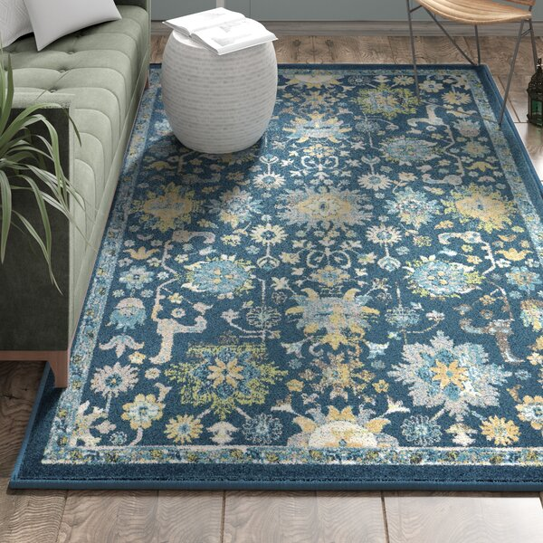 Berklee Teal Area Rug by Bungalow Rose