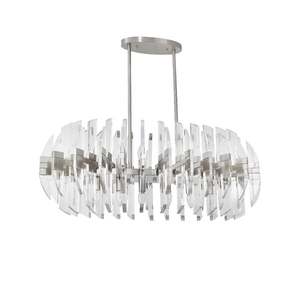 Gracie 12 - Light Statement Geometric Chandelier by Everly Quinn Everly Quinn