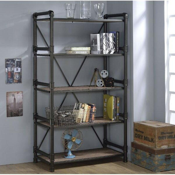 Lipford Industrial Looking Etagere Bookcase by 17 Stories