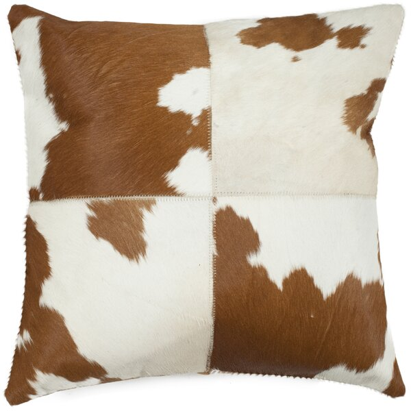 Carley Cowhide Throw Pillow (Set of 2) by Safavieh