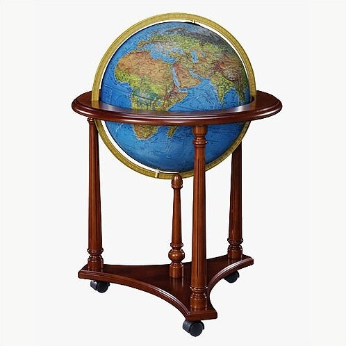 Lafayette Blue Illuminated World Globe by Replogle Globes