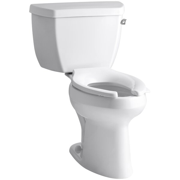 Highline 1.6 GPF Elongated Two-Piece Toilet (Seat Not Included) by Kohler