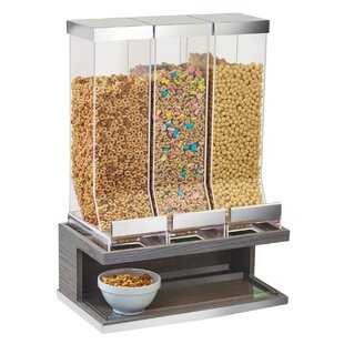 Lesure 3 Section Ashwood Cereal Dispenser by Latitude Run