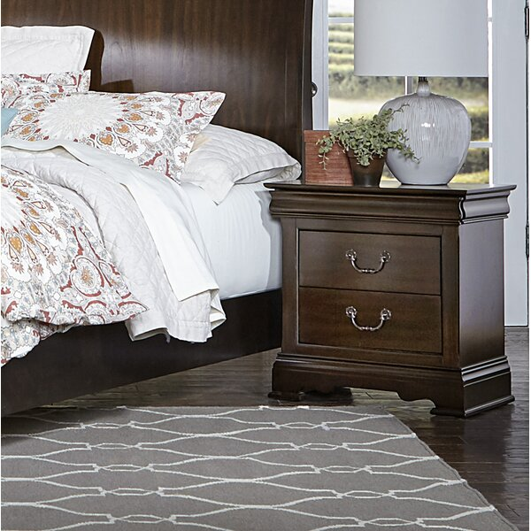 Hebden 2 Drawer Nightstand by Charlton Home