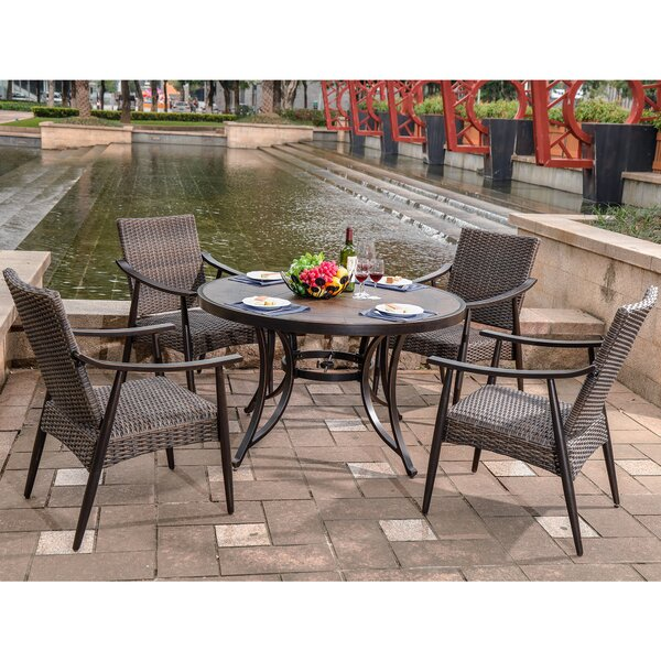 Dake Outdoor 5 Piece Dining Set by Darby Home Co